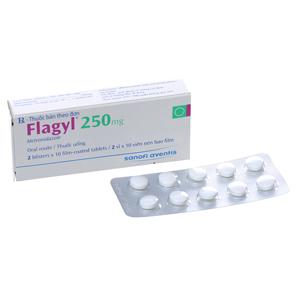 Thuốc trị nấm Flagyl 250mg hộp 20 viên