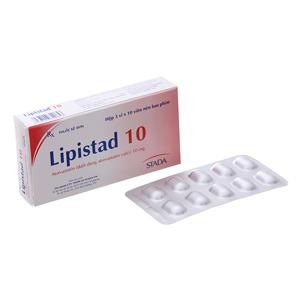 Thuốc trị mỡ máu Lipistad 10mg hộp 30 viên
