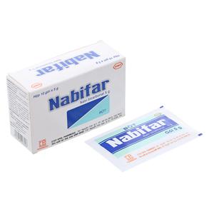 Bột vệ sinh phụ nữ Nabifar hộp 10 gói