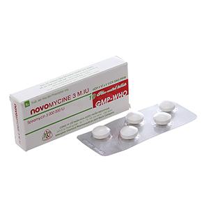 Thuốc kháng sinh Novomycine...