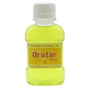 Nước súc miệng Orafar chai 90ml