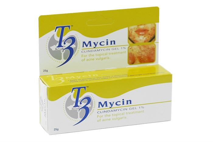 Gel bôi hỗ trợ trị mụn T3 Mycin 25g (Malaysia)