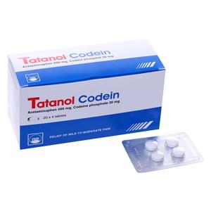 Thuốc Tatanol Codein vỉ 4 viên
