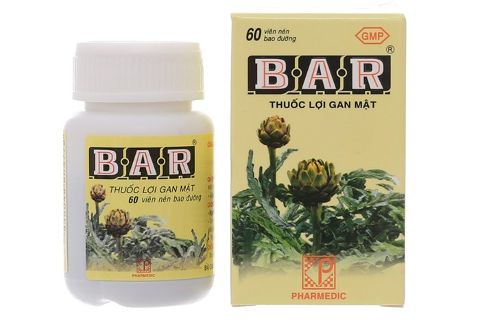 Thuốc lợi gan mật Bar 60 viên