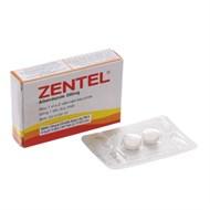 Thuốc tẩy giun, sán Zentel 200mg hộp 2 viên