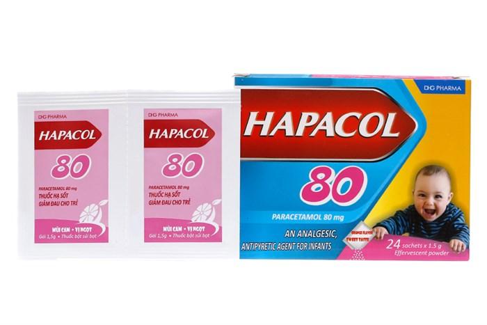 Thuốc bột sủi bọt Hapacol 80MG