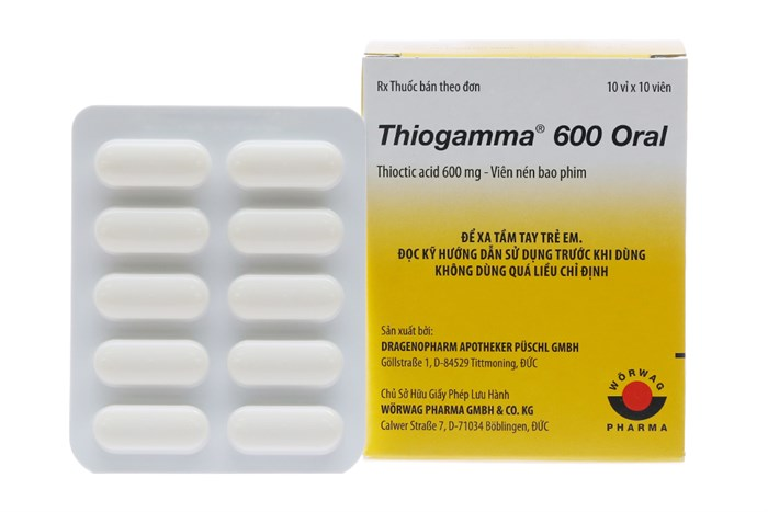 Thuốc trị rối loạn cảm giác Thiogamma 600 Oral 600mg