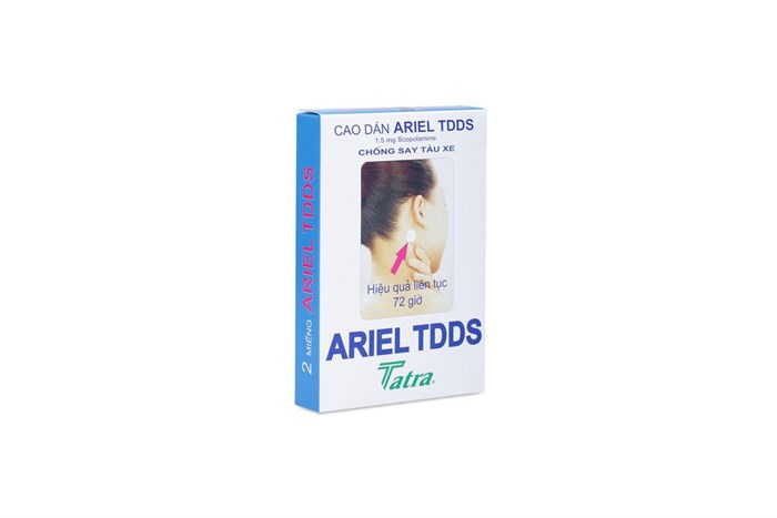 Miếng dán chống say tàu xe Ariel TDDS 2 miếng