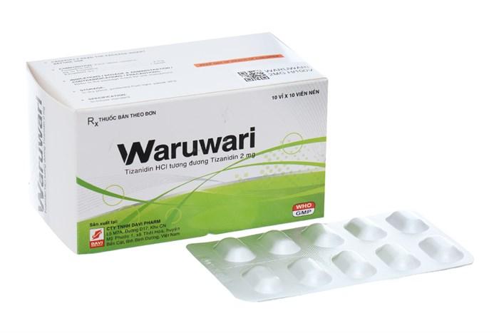 Thuốc giãn cơ Waruwari 2mg 100 viên