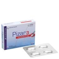 Thuốc tẩy giun, sán Pizar 3mg hộp 4 viên
