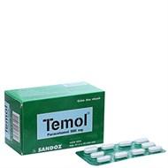 Thuốc giảm đau, hạ sốt Temol 500mg 100 viên