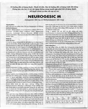 Thuốc điều trị động kinh Neurogesic M 100 viên