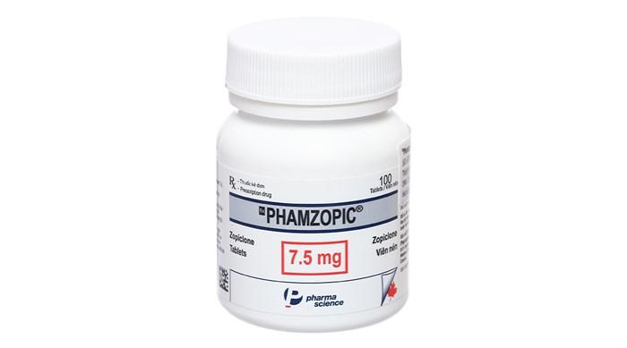 Thuốc an thần Phamzopic 7.5mg chai 100 viên