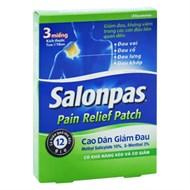 Cao dán giảm đau Salonpas Pain Relief Patch 3 miếng