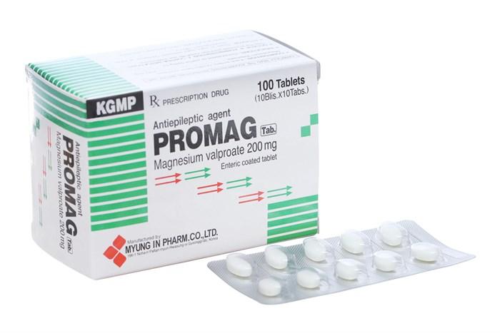 Thuốc trị động kinh Promag 200mg 100 viên