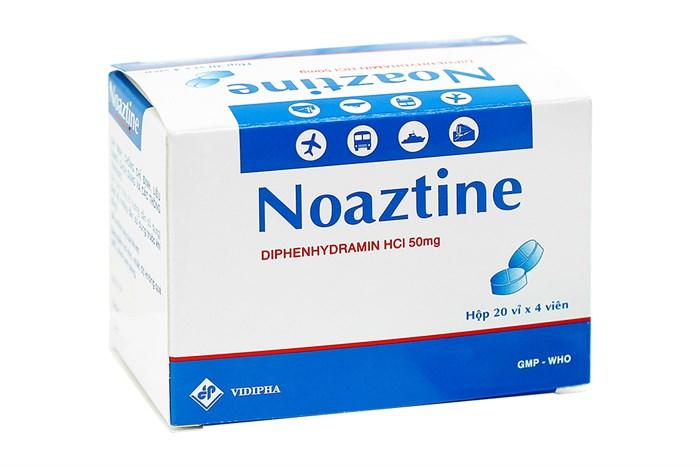 Thuốc chống say tàu xe Noaztine 50mg 80 viên