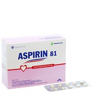 Thuốc phòng ngừa tai biến Aspirin Agimexpharm 81mg 200 viên
