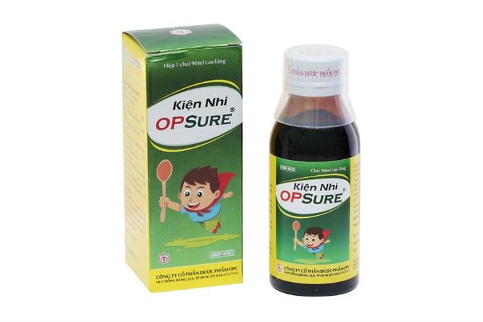 Siro cho trẻ biếng ăn, ra mồ hôi trộm Kiện Nhi OPSure 90ml