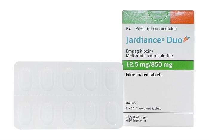 Thuốc Jardiance Duo 12.5mg/850mg hộp 30 viên