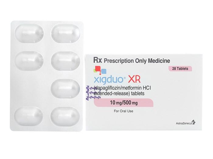 Thuốc Xigduo XR 10mg/500mg hộp 28 viên