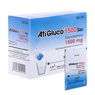 Thuốc cốm AtiGluco 1500 mg Sac hộp 30 gói x 3g