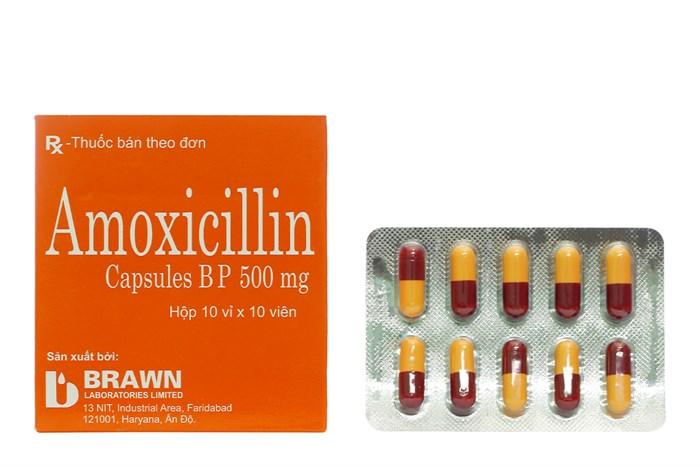 Thuốc Amoxicillin 500 mg hộp 100 viên