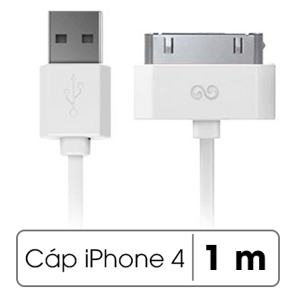 Dây cáp iPhone 4 - iPhone 4s 1 m iWalk