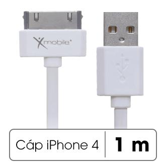 Dây cáp iPhone 4 - iPhone 4s 1 m Xmobile