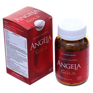 Tăng cường sắc đẹp, sinh lý nữ Sâm Angela Gold hộp 60 viên