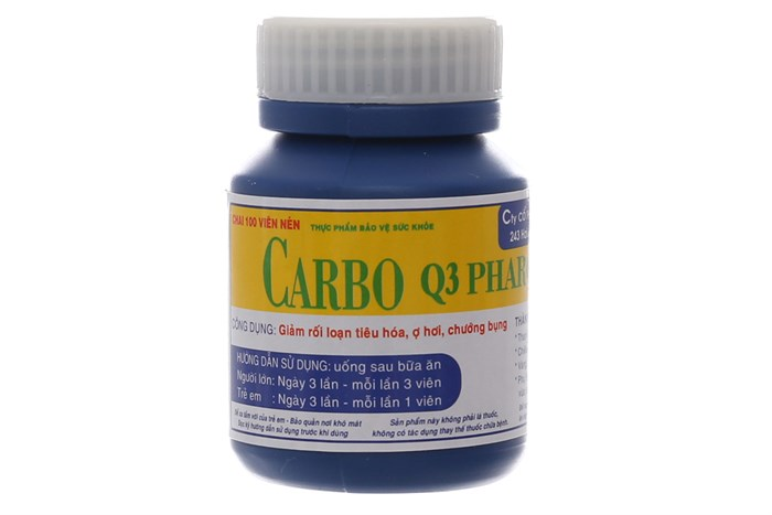 Viên uống Carbo Q3 Pharco 100 viên