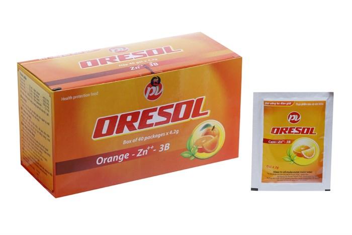 Bột bù nước và chất điện giải Oresol PV 40 gói