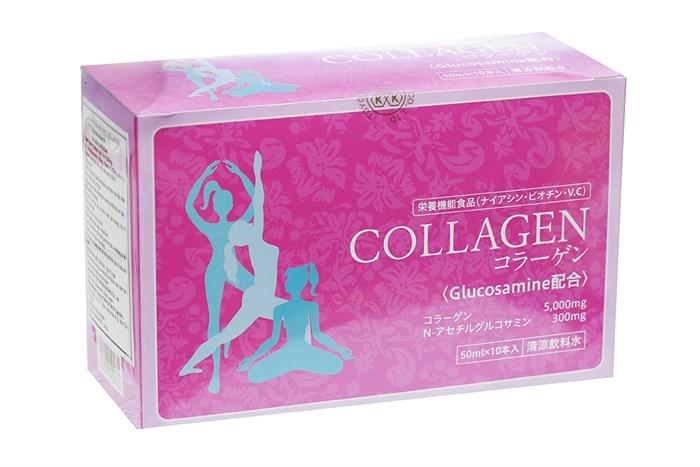 Nước uống Collagen Glucosamin Toyo 10 lọ/hộp