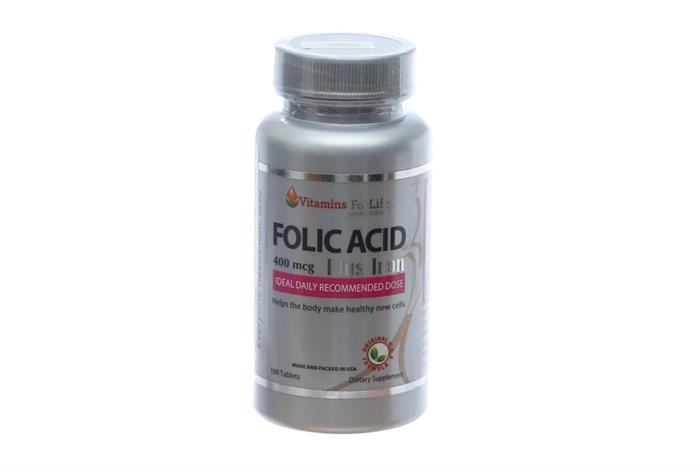 Viên uống bổ sung sắt và acid folic Folic Acid Plus Iron 100 viên