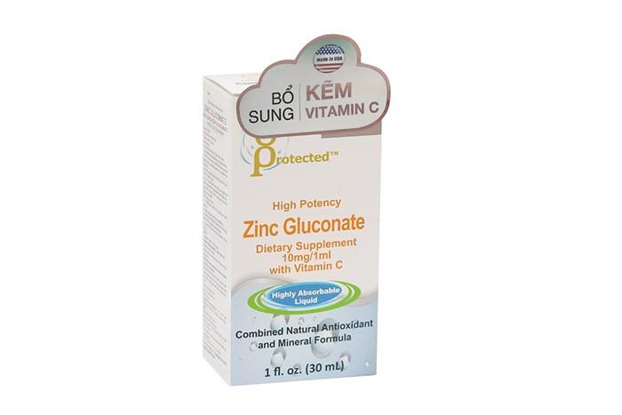Siro bổ sung kẽm, vitamin C High Potency Zinc Gluconate with Vitamin C 30ml