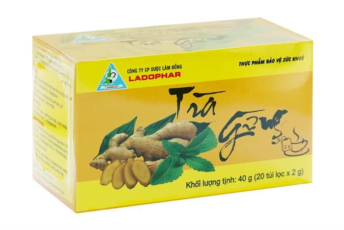 Trà gừng Ladophar 40g 20 túi lọc