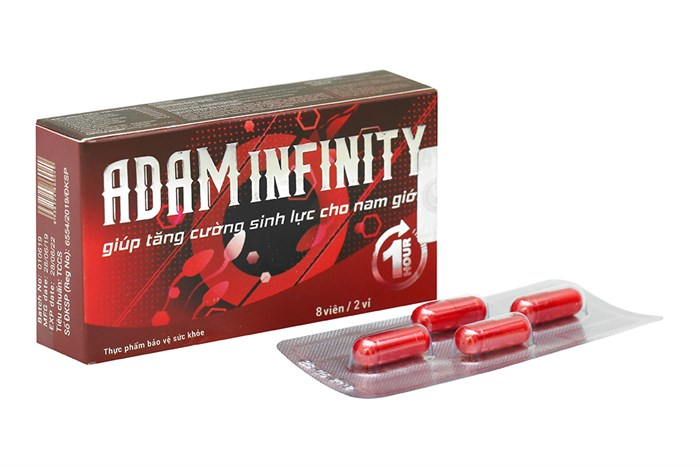 Viên uống tăng cường sinh lý Adam Infinity 8 viên