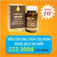 Viên sữa ong chúa Collagen Royal Jelly hộp 60 viên