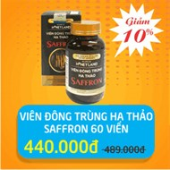 Viên đông trùng hạ thảo Saffron hộp 60 viên