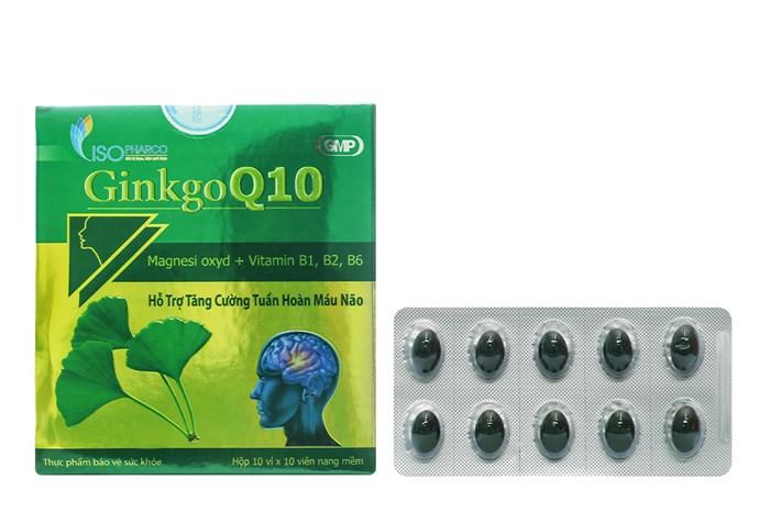 Viên uống tăng cường tuần hoàn não Ginkgo Q10 Iso hộp 100 viên