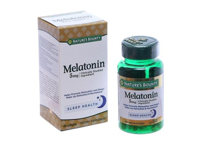 Viên uống hỗ trợ giấc ngủ Nature's Bounty Melatonin 5mg 60 Viên