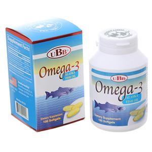 Bổ mắt, bổ não, tốt cho tim mạch UBB Omega 3 hộp 100 viên