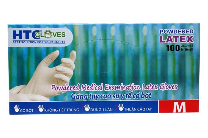 Găng tay cao su y tế có bột HTC Gloves