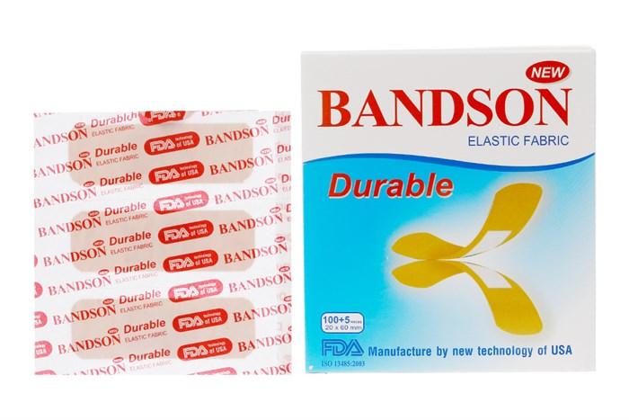 Băng cá nhân Bandson Durable 100 miếng