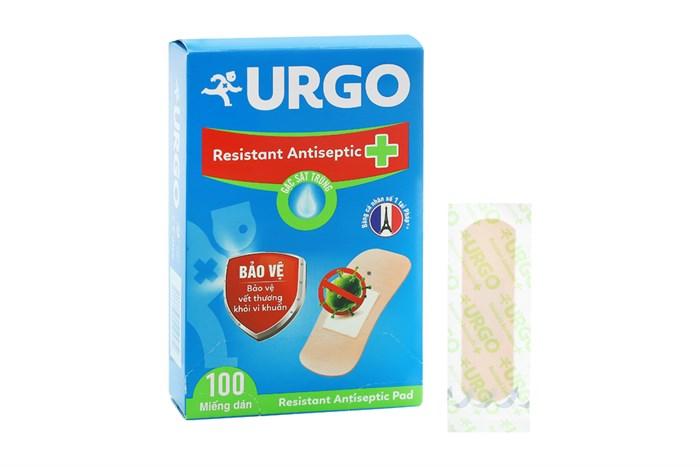 Băng cá nhân Urgo Resistant Antiseptic 100 miếng