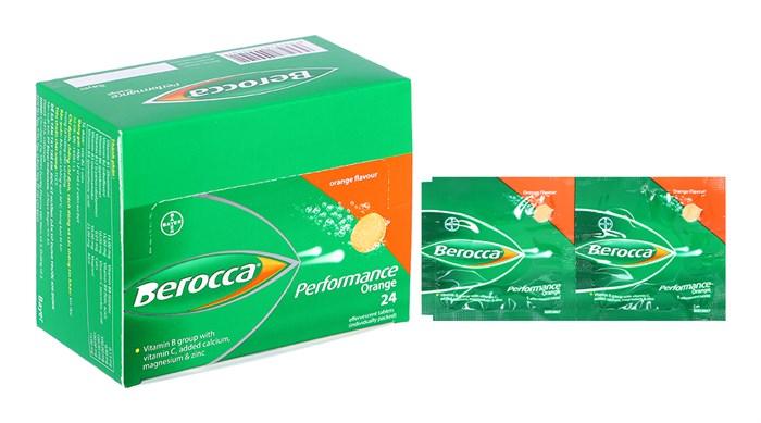 Viên sủi bổ sung vitamin và khoáng chất Berocca Performance Orange vỉ xé 24 viên