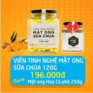 Viên tinh nghệ mật ong sữa chúa hộp 120g