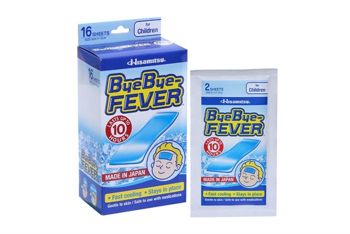 Miếng dán hạ sốt cho trẻ ByeBye Fever for Children 8 gói